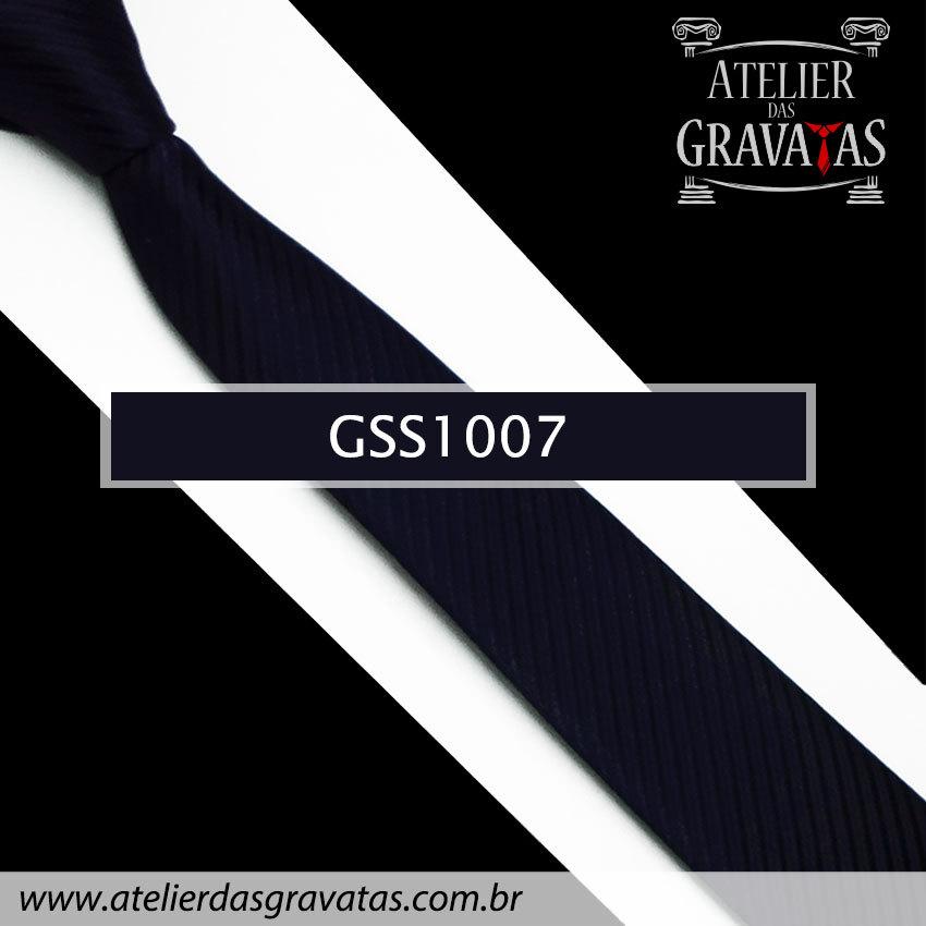 Gravata Slim Fit Azul Escura 5cm GSS1007