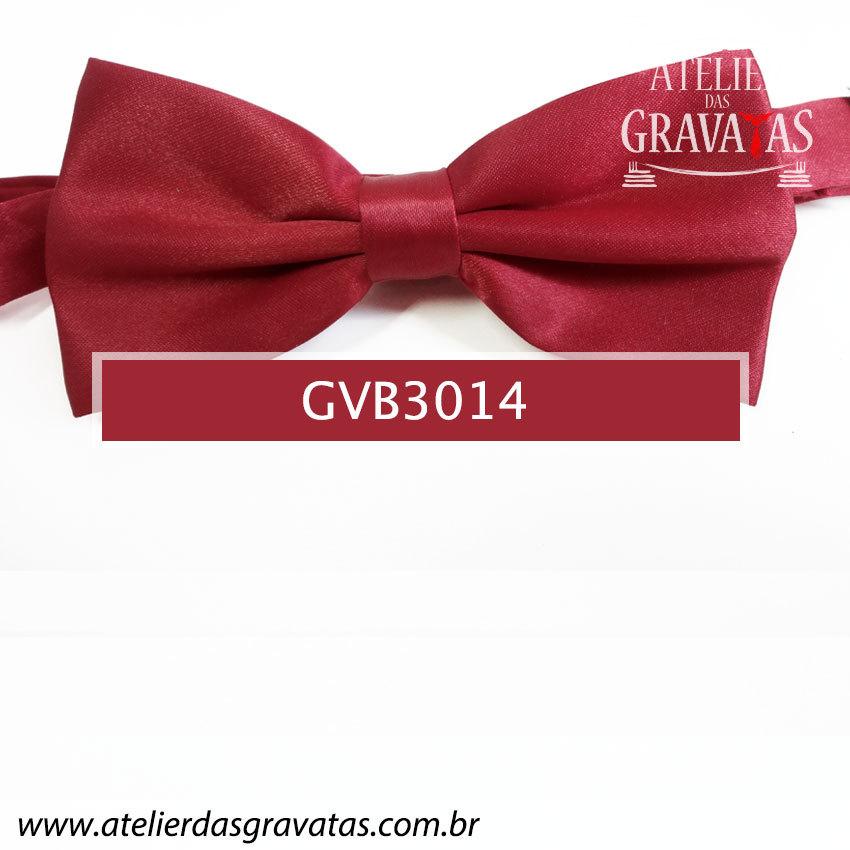 Gravata Borboleta Vermelha - nó pronto GVB3014 - com ajuste de largura