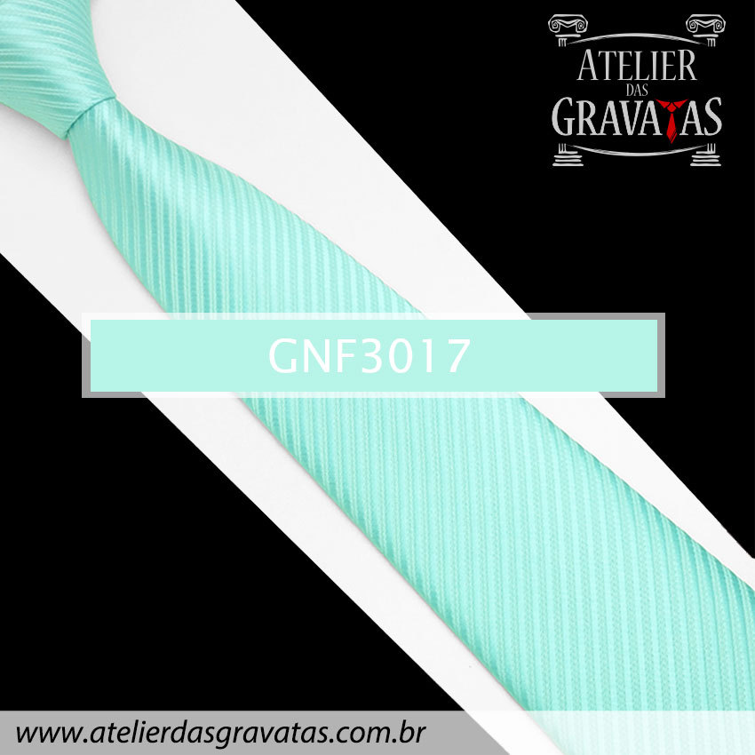 Gravata Slim Azul Tiffany 8cm GNF3017