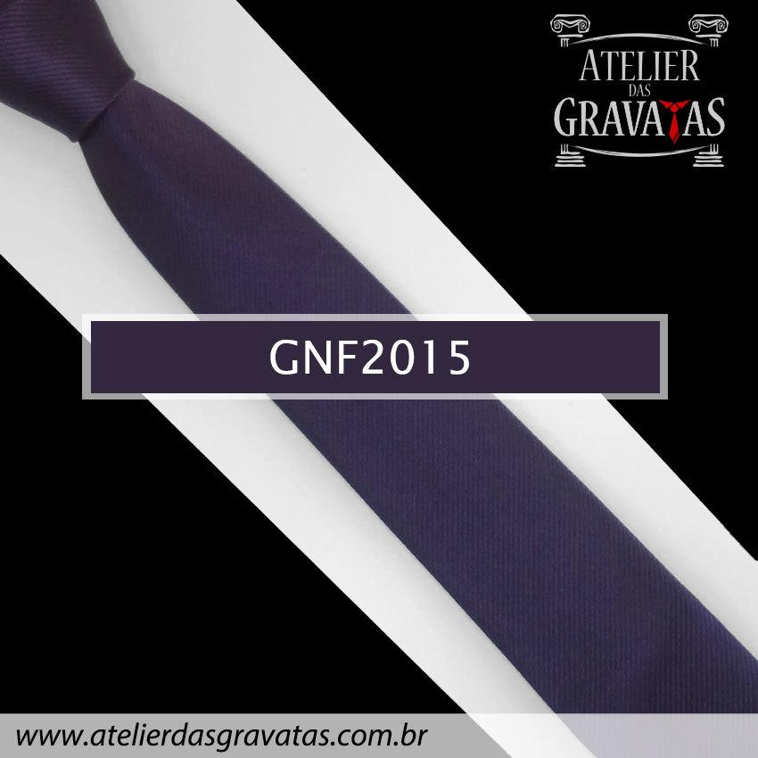 Gravata Slim Fit Roxa de Seda 6cm GNF2015