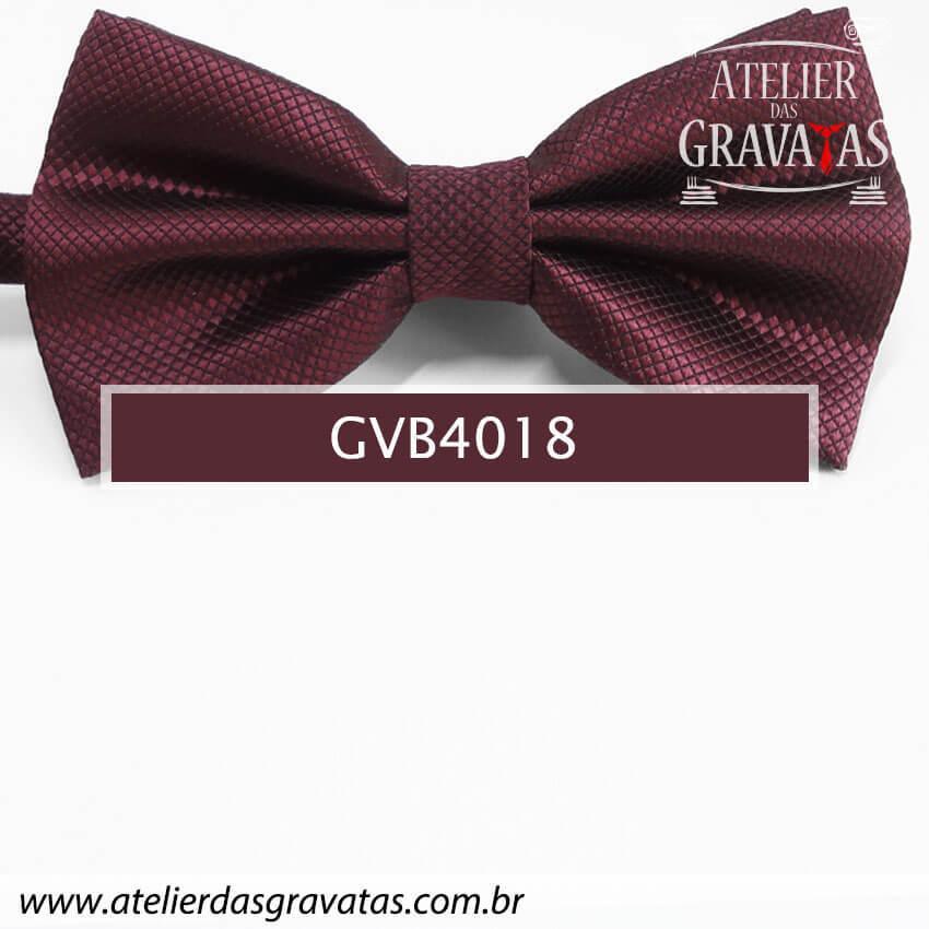 Gravata Borboleta Vinho - nó pronto GVB4018 - com ajuste de largura