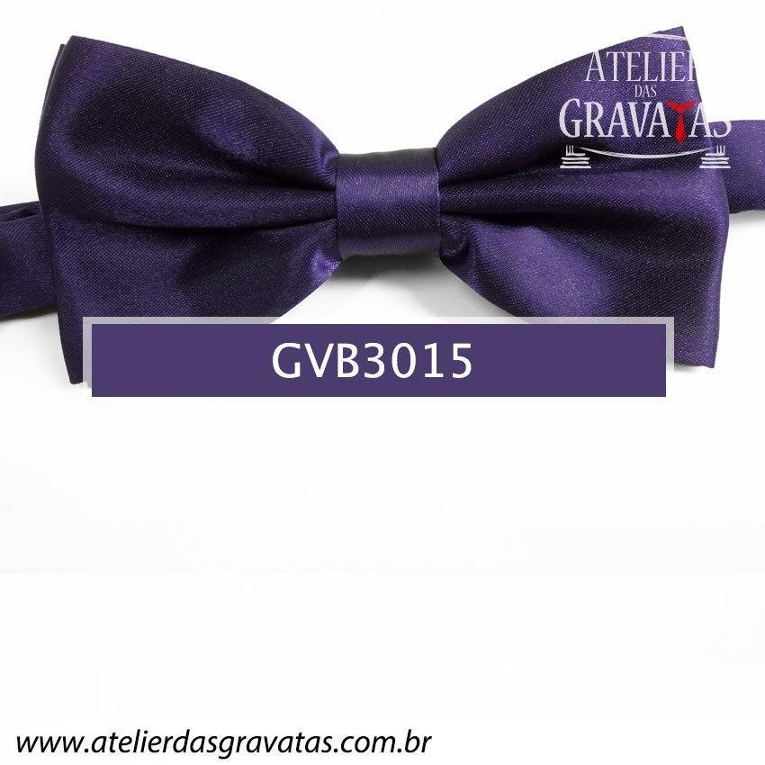 Gravata Borboleta Roxa Escura - nó pronto GVB3015 - com ajuste de largura