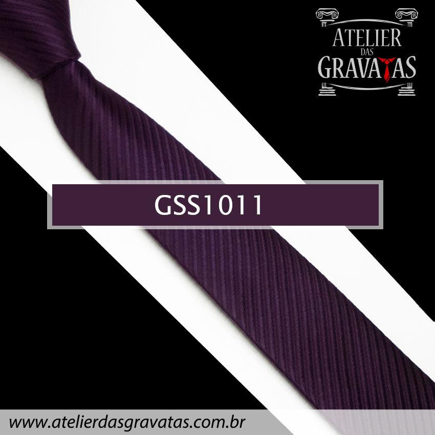 Gravata Slim Fit Roxa Escura 5cm GSS1011