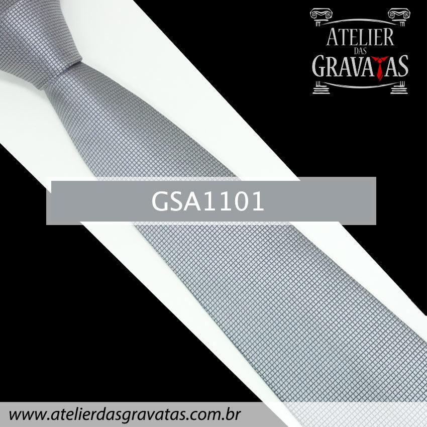 Gravata de Seda Cinza 10cm GSA1101