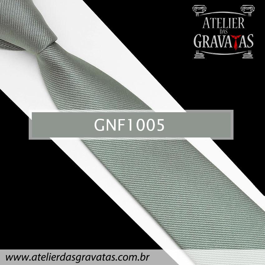 Gravata Slim Cinza de Seda 8cm GNF1005