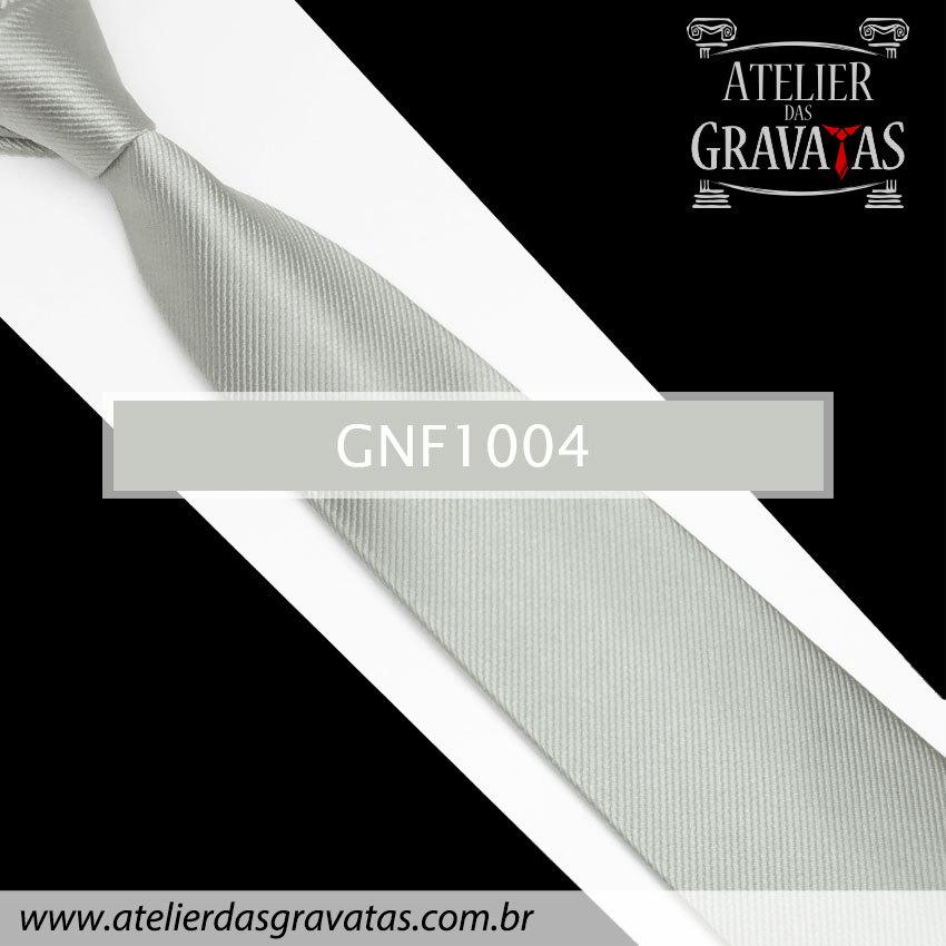 Gravata Slim Prata de Seda 8cm GNF1004