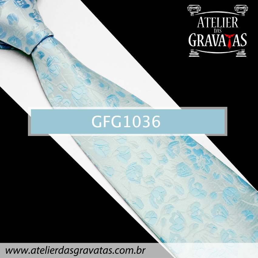 Gravata Especial Floral 10cm GFG1036