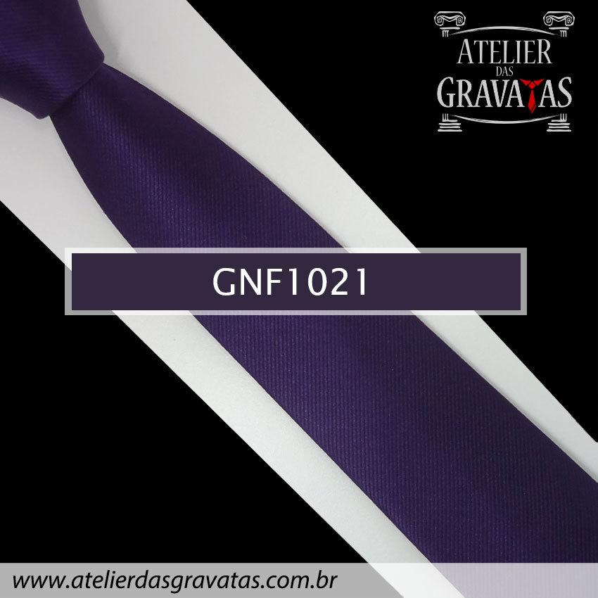 Gravata Slim Roxa de Seda 8cm GNF1021