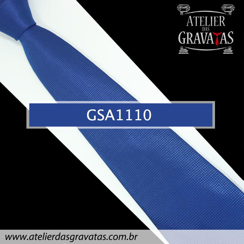 Gravata Azul Royal de Seda 10cm GSA1110