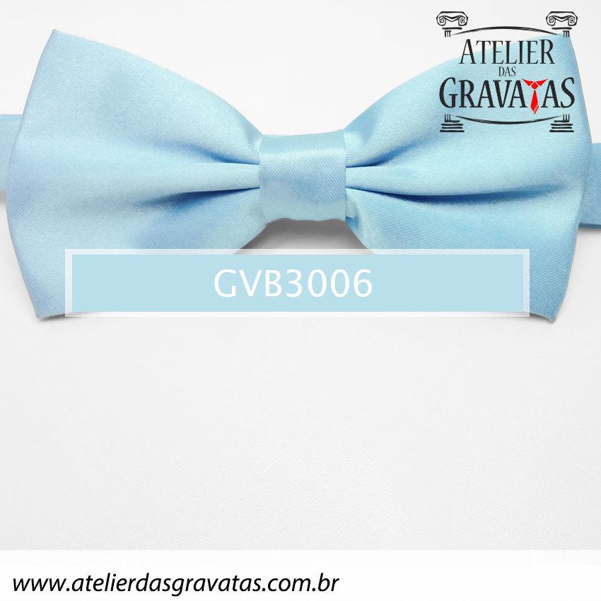 Gravata Borboleta Azul Clara - nó pronto GVB3006 - com ajuste de largura