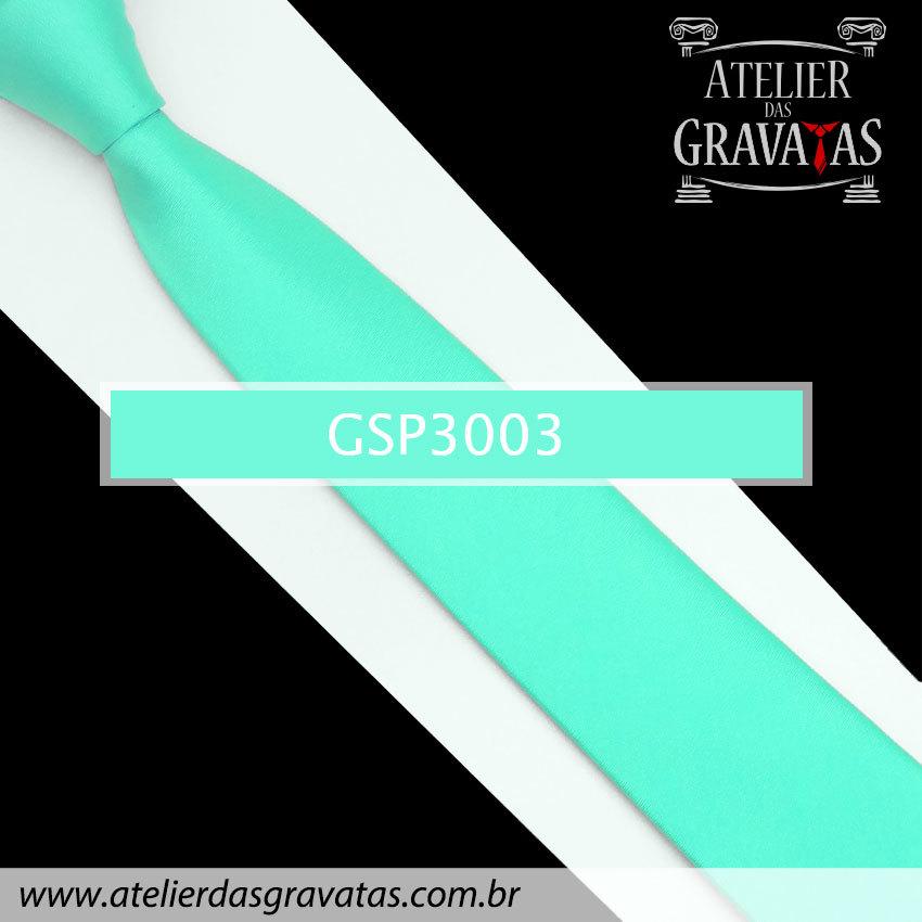Gravata Slim Fit Verde Clara Especial 6cm GSP3003