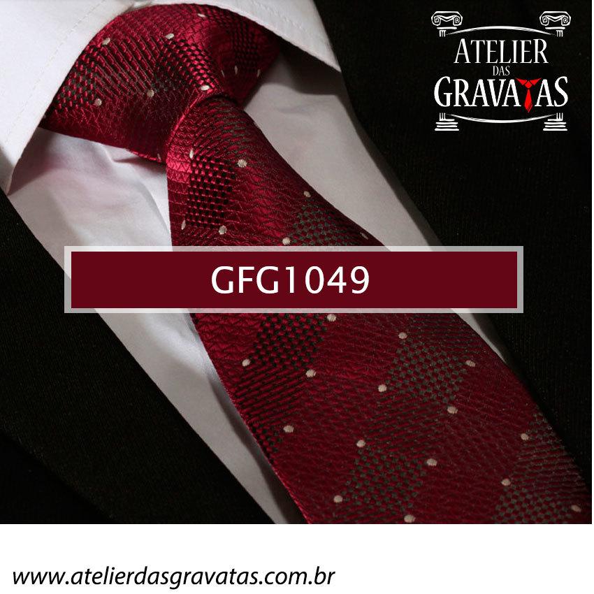 Gravata de Seda Especial Dot 8,5cm GFG1049 - acompanha lenço