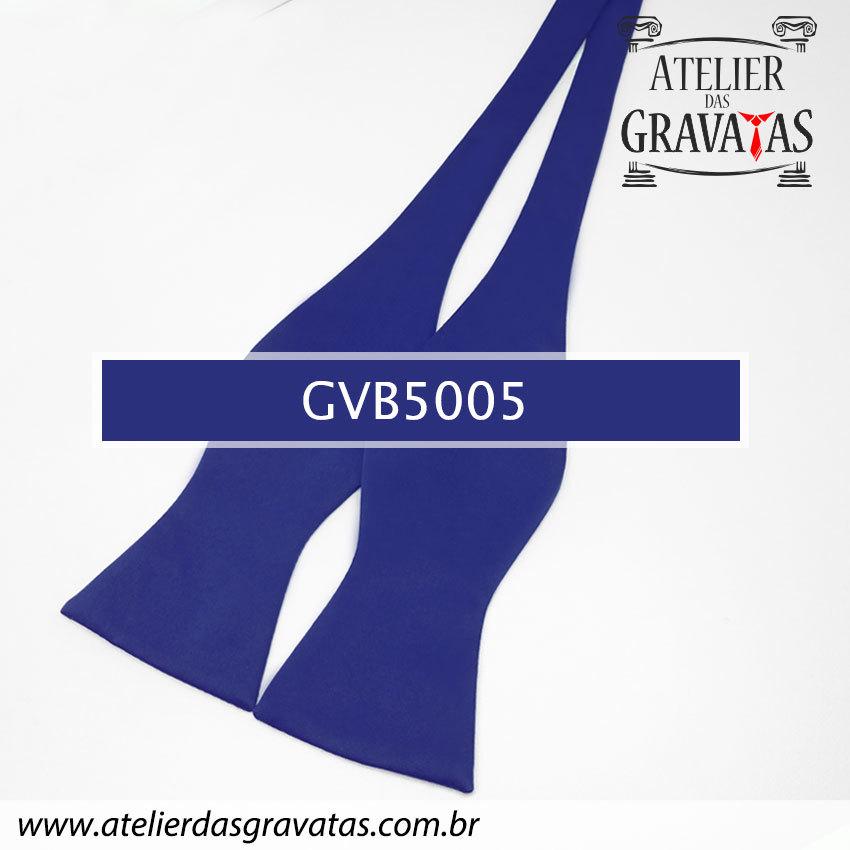 Gravata Borboleta Azul Royal GVB5005 - com ajuste de largura