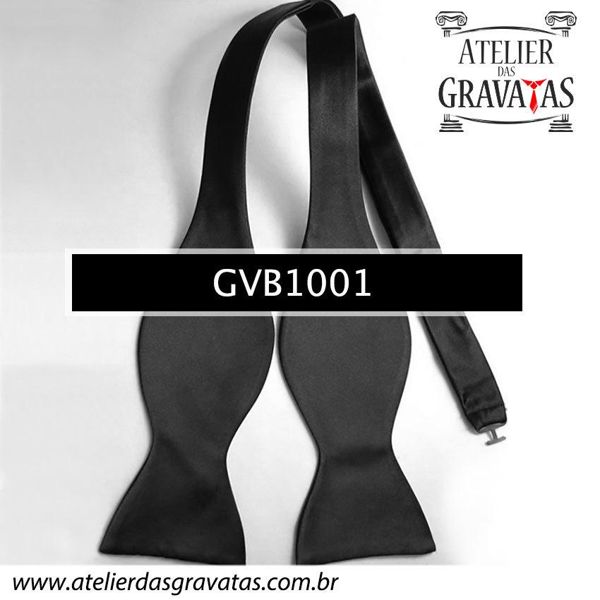 Gravata Borboleta Preta de Seda Especial GVB1001