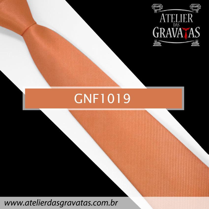 Gravata Slim Laranja de Seda 8cm GNF1019