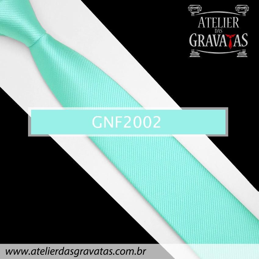 Gravata Slim Fit de Seda 6cm Azul Tiffany GNF2002