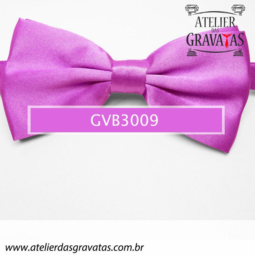 Gravata Borboleta Lilás - nó pronto GVB3009 - com ajuste de largura