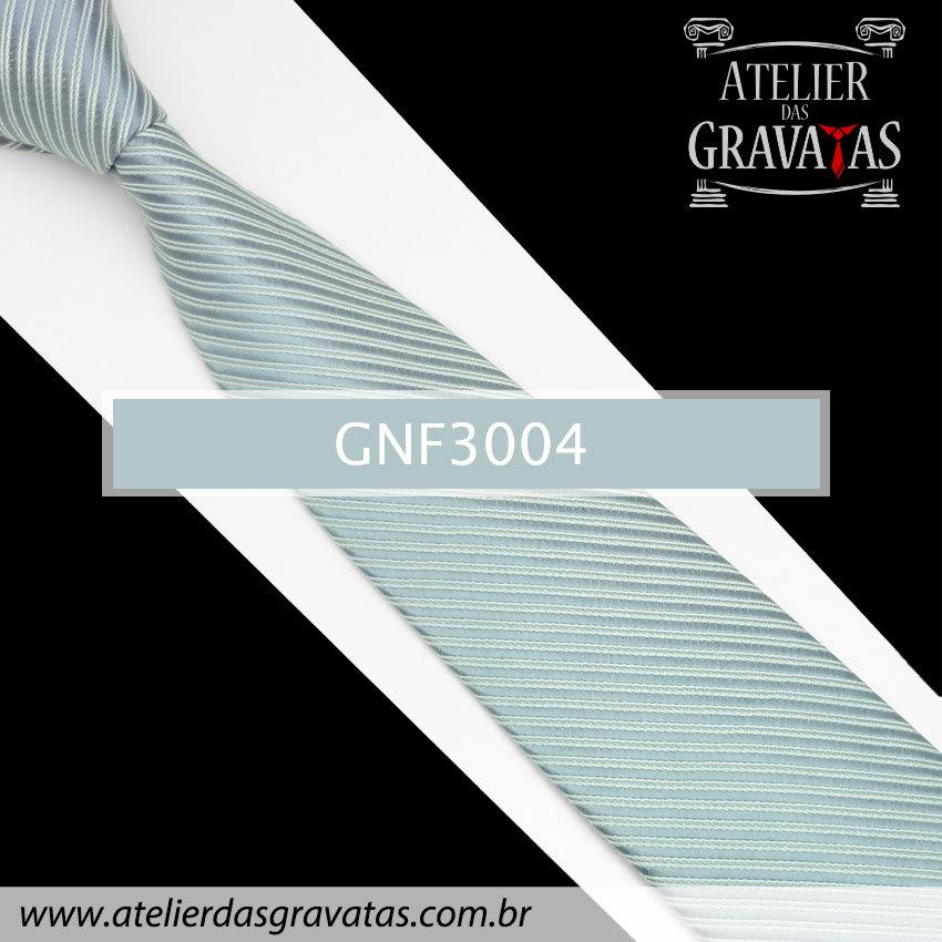Gravata Slim Cinza Azulada 8cm GNF3004