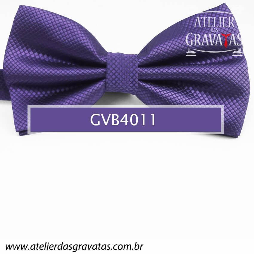 Gravata Borboleta Roxa - nó pronto GVB4011 - com ajuste de largura