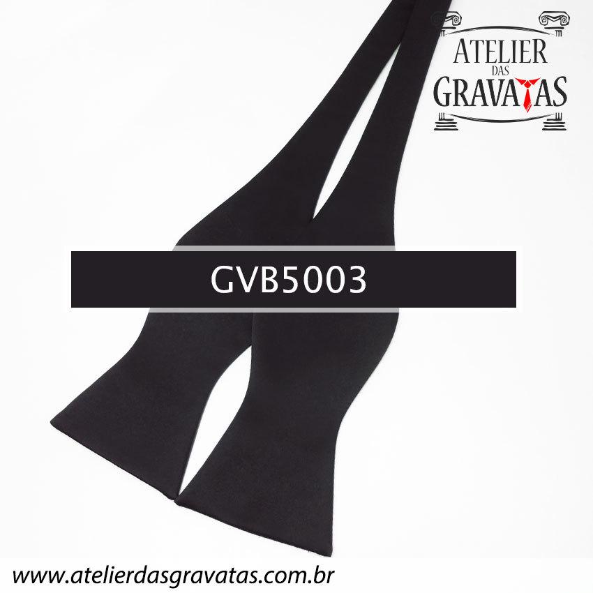 Gravata Borboleta Preta GVB5003 - com ajuste de largura