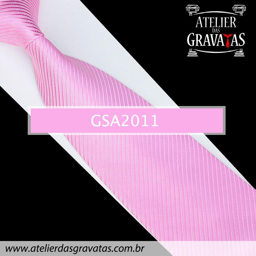 Gravata Rosa 10cm GSA2011