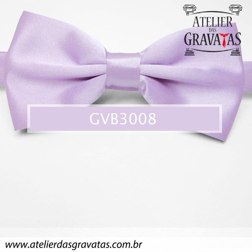 Gravata Borboleta Roxa Clara - nó pronto GVB3008 - com ajuste de largura