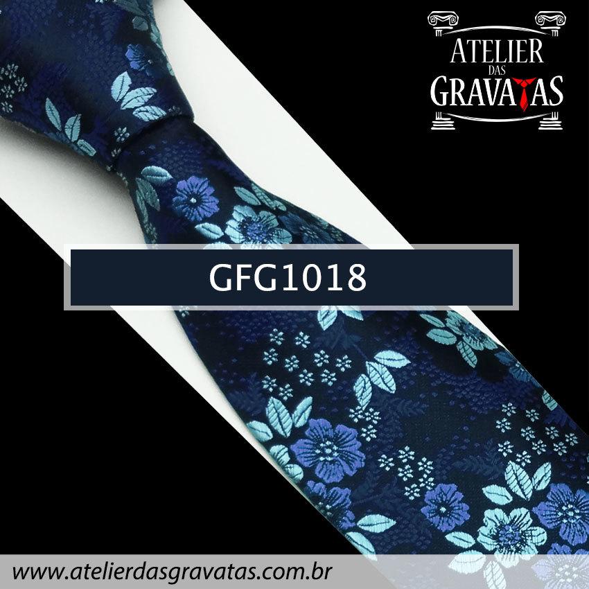 Gravata de Seda Especial Floral 9cm GFG1018