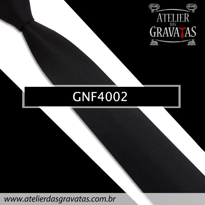 Gravata Slim Preta 7,5cm GNF4002