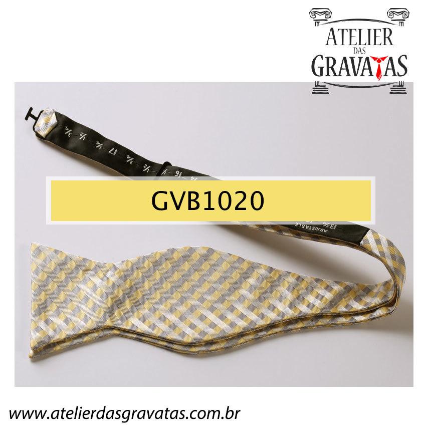 Gravata Borboleta de Seda Luxo GVB1020 - acompanha lenço