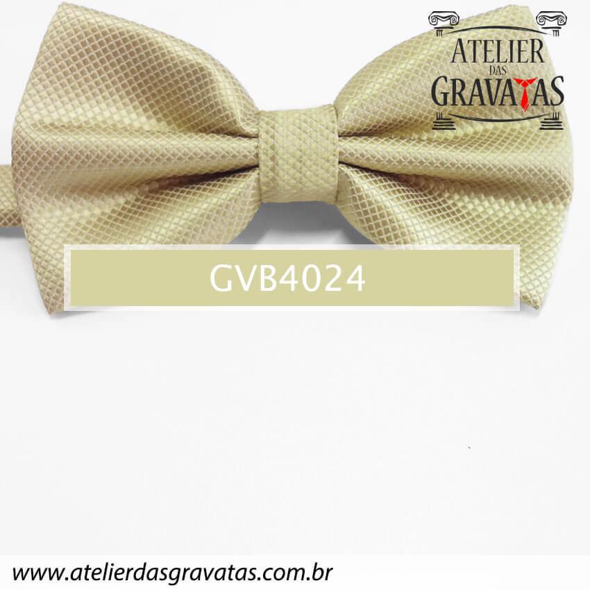 Gravata Borboleta Dourada - nó pronto GVB4024 - com ajuste de largura