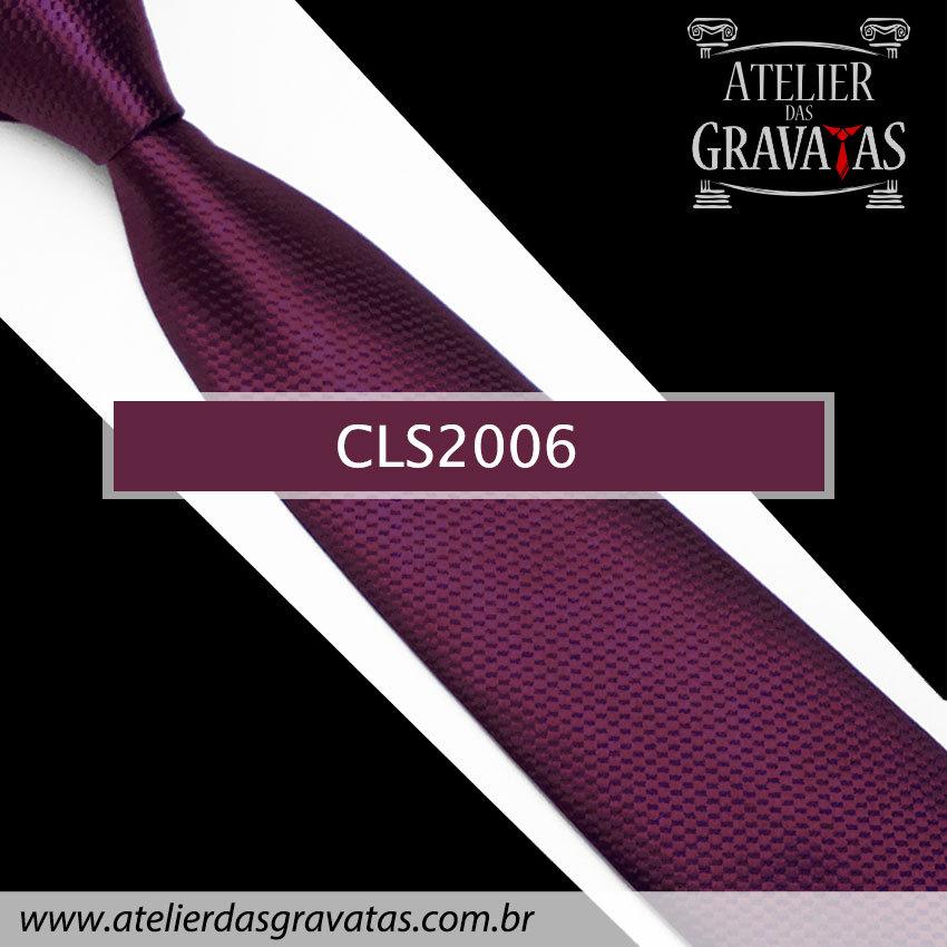 Gravata Clássica Slim 8cm CLS2006