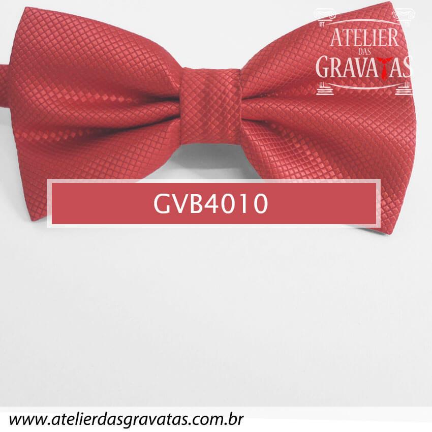 Gravata Borboleta Vermelha - nó pronto GVB4010 - com ajuste de largura