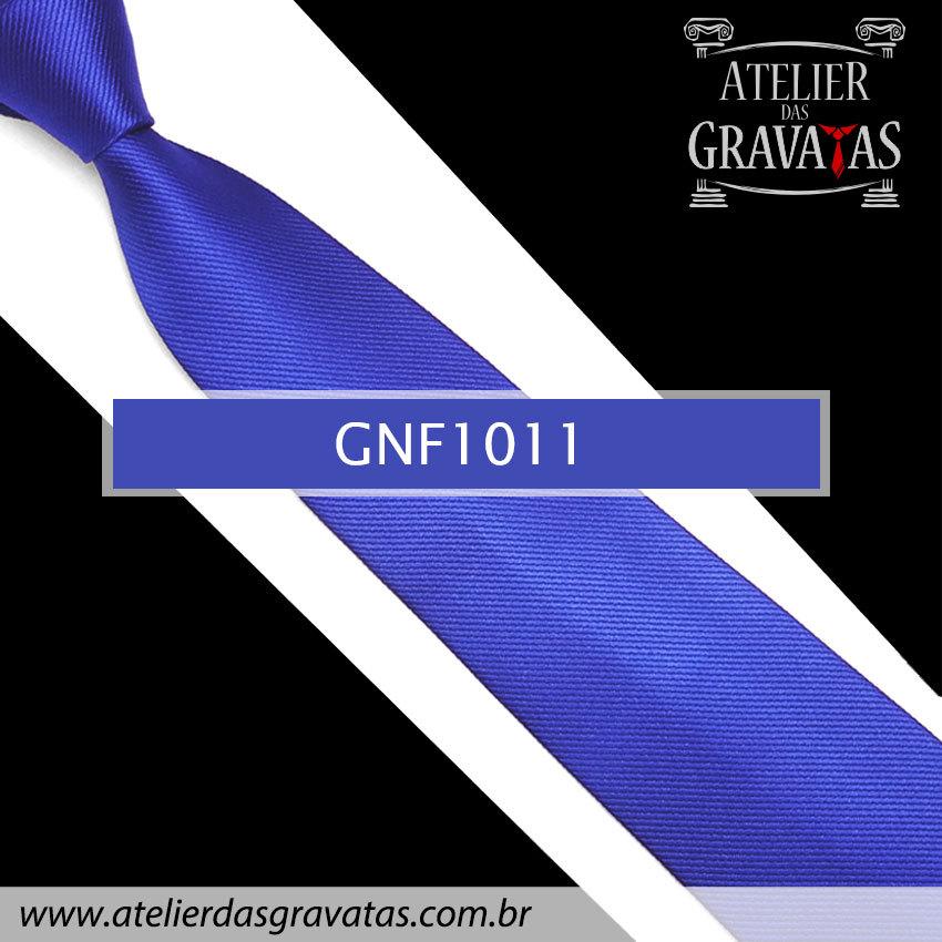 Gravata Slim Azul Royal de Seda 8cm GNF1011