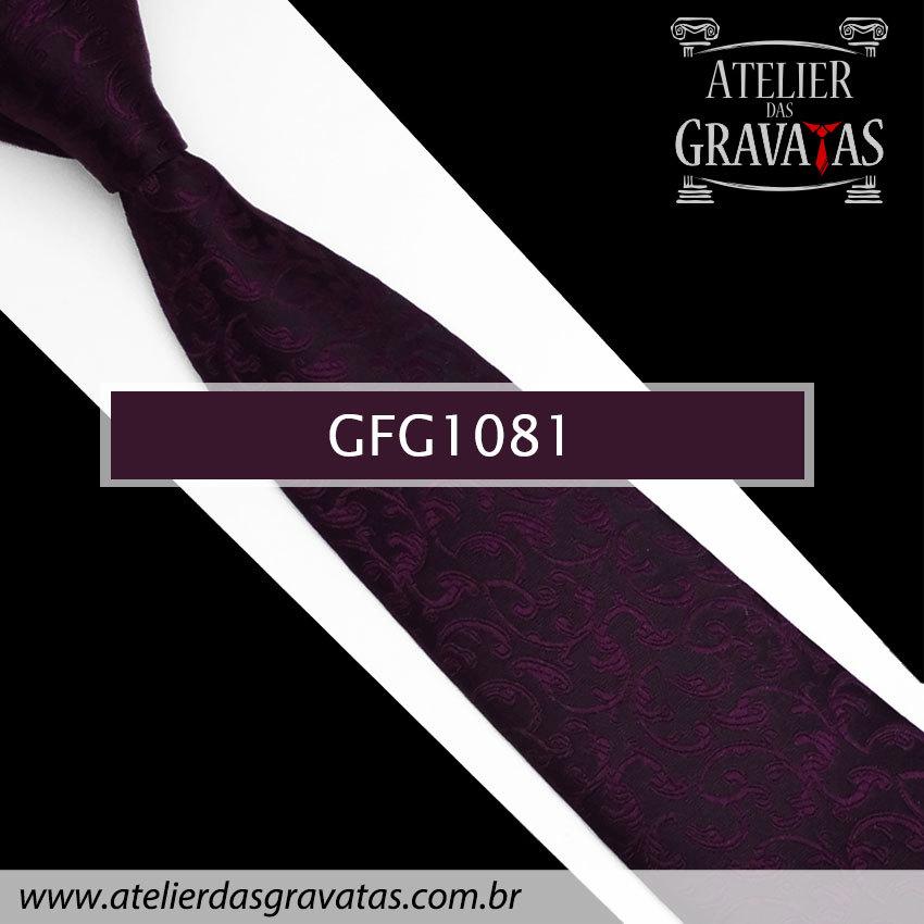 Gravata Slim Especial 8cm GFG1081 - acompanha abotoaduras e lenço