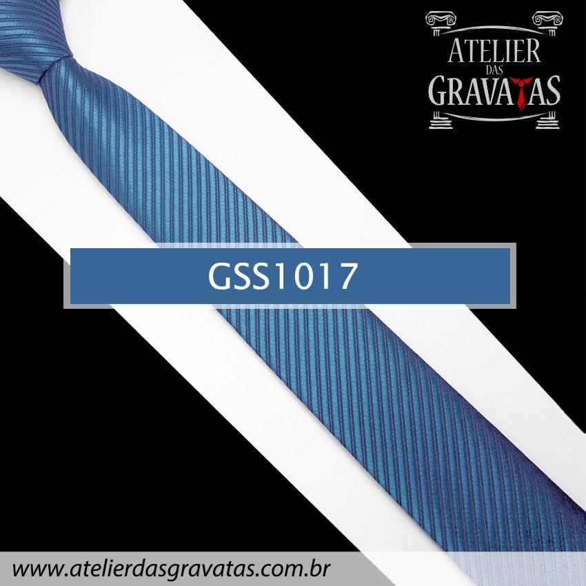 Gravata Slim Fit Azul 5cm GSS1017