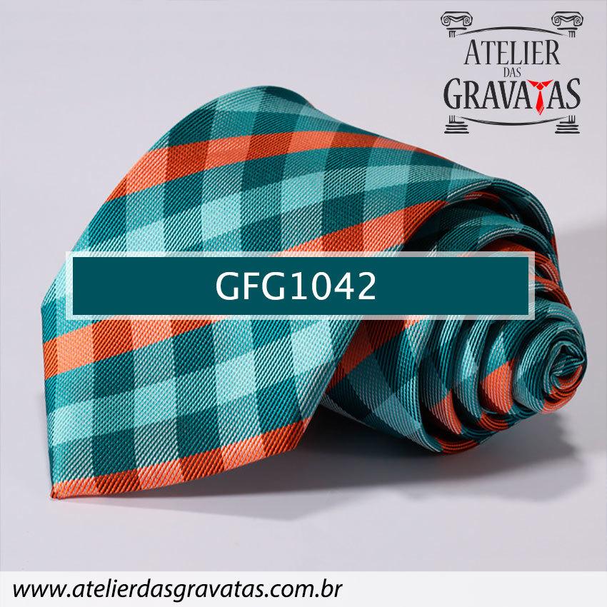 Gravata de Seda Especial Xadrez 9cm GFG1042
