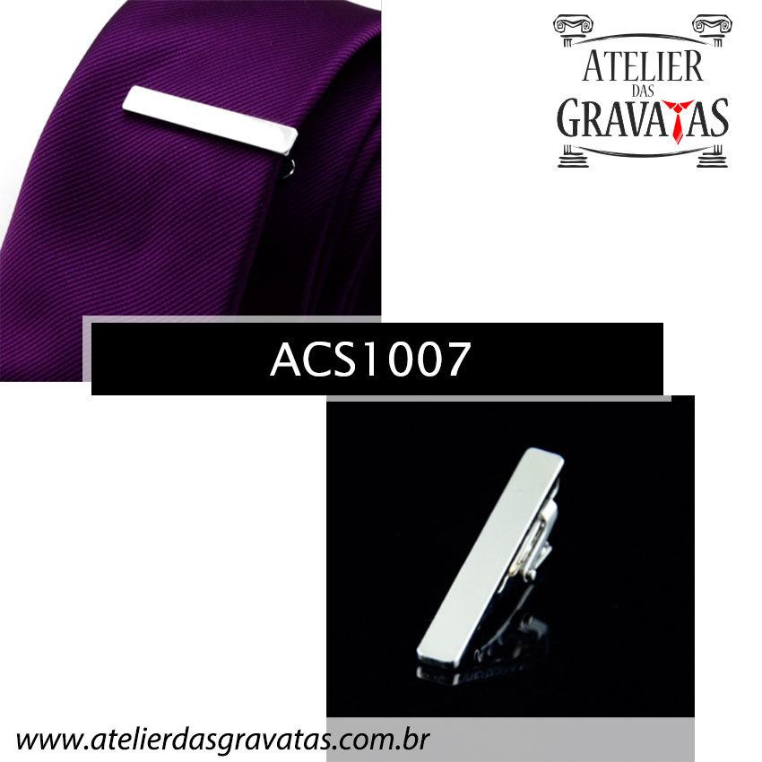 Prendedor de Gravata 4cm em Aço Inox ACS1007