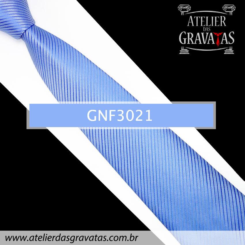 Gravata Slim Azul 8cm GNF3021