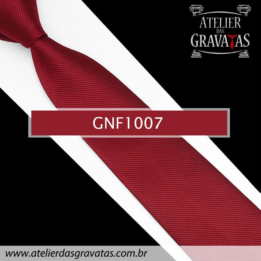 Gravata Slim Vermelha de Seda 8cm GNF1007