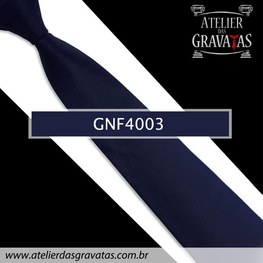 Gravata Slim Azul Escura 7,5cm GNF4003