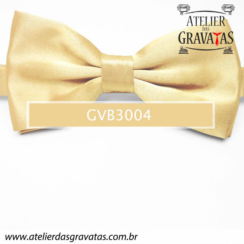 Gravata Borboleta Dourada - nó pronto GVB3004 - com ajuste de largura