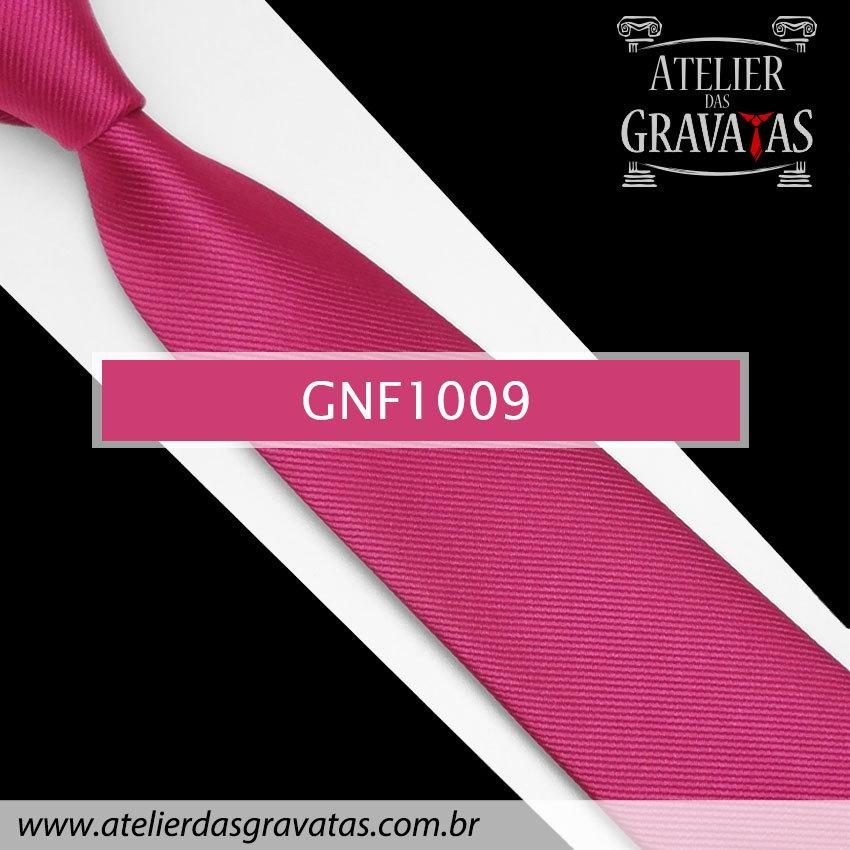 Gravata Slim Rosa Pink de Seda 8cm GNF1009