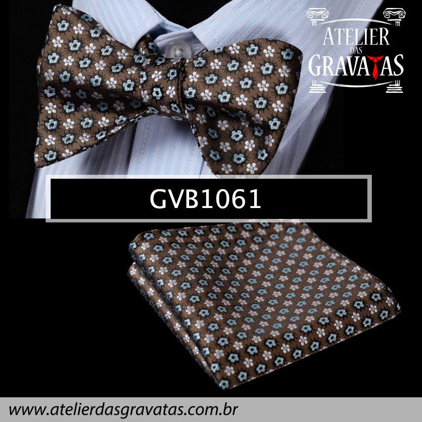 Gravata Borboleta de Seda Especial GVB1061 - acompanha lenço