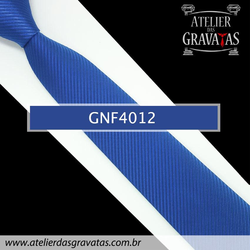 Gravata Slim Azul Royal 7,5cm GNF4012