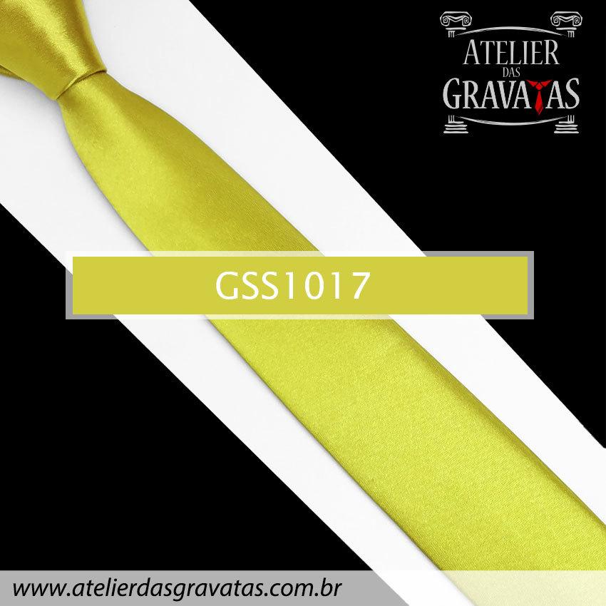 Gravata Slim Fit Dourada 5cm GSS1017