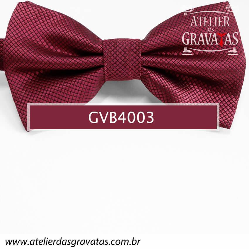 Gravata Borboleta Vermelha - nó pronto GVB4003 - com ajuste de largura