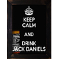 QUADRO VINTAGE JACK DANIELS KEEP CALM 2