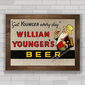 QUADRO WILLIAM YOUNGERS BEER 1955