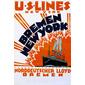 QUADRO DE PAREDE U.S. LINES 1914