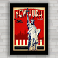 QUADRO RETRÔ NEW YORK TRAVEL POSTER 2